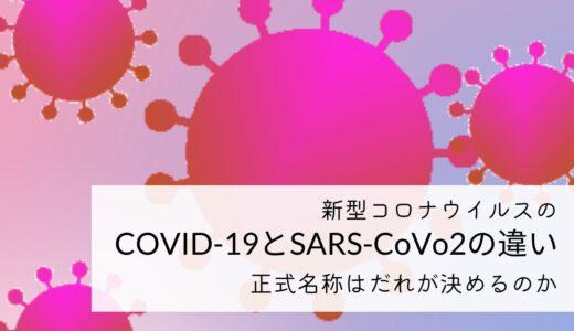 新型コロナウイルスのCOVID-19とSARS-CoV-2の違い!正式名称は誰が決めるのか